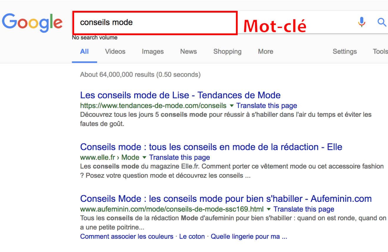 Conseils mode google