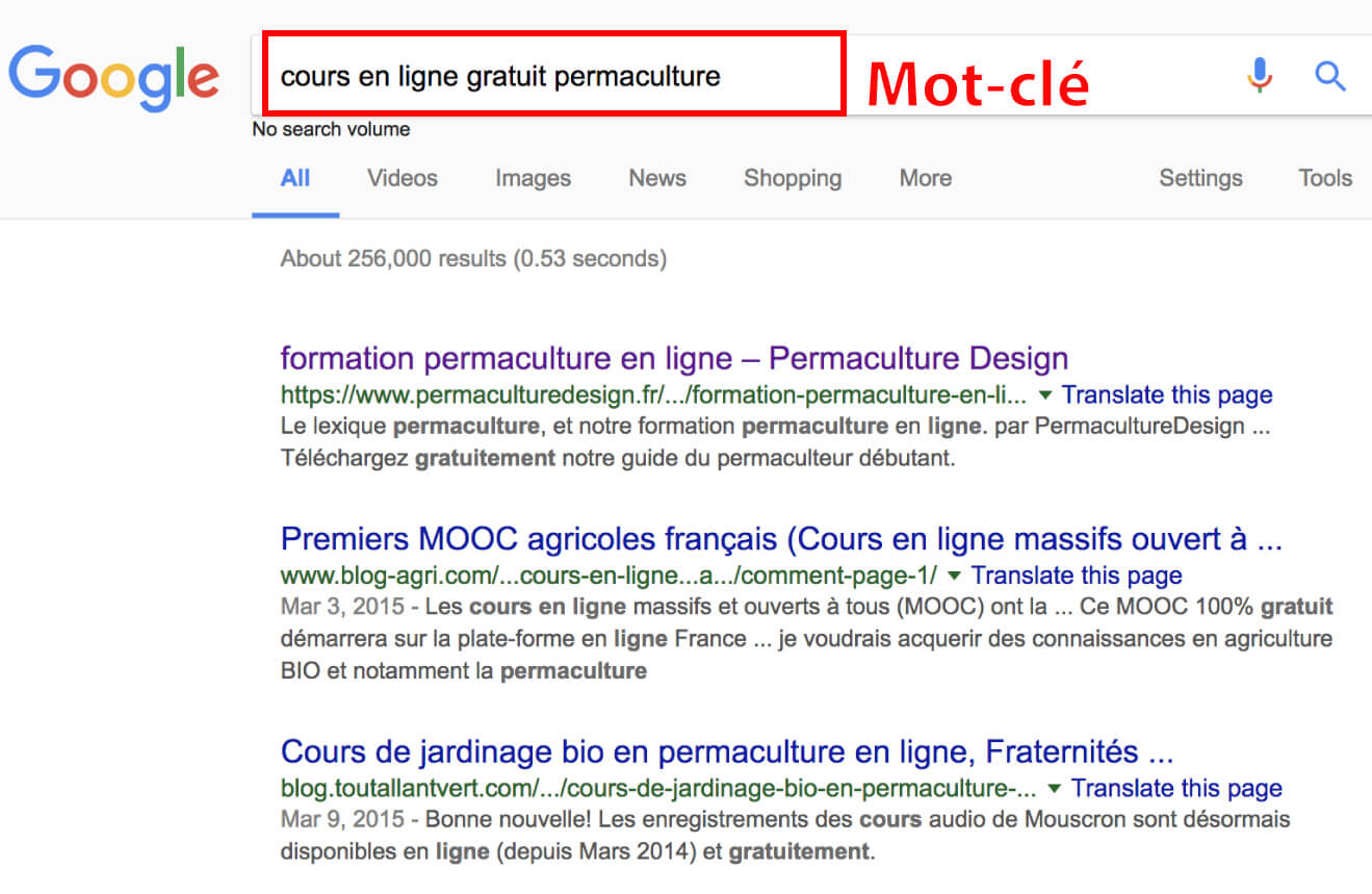Cours en ligne Google