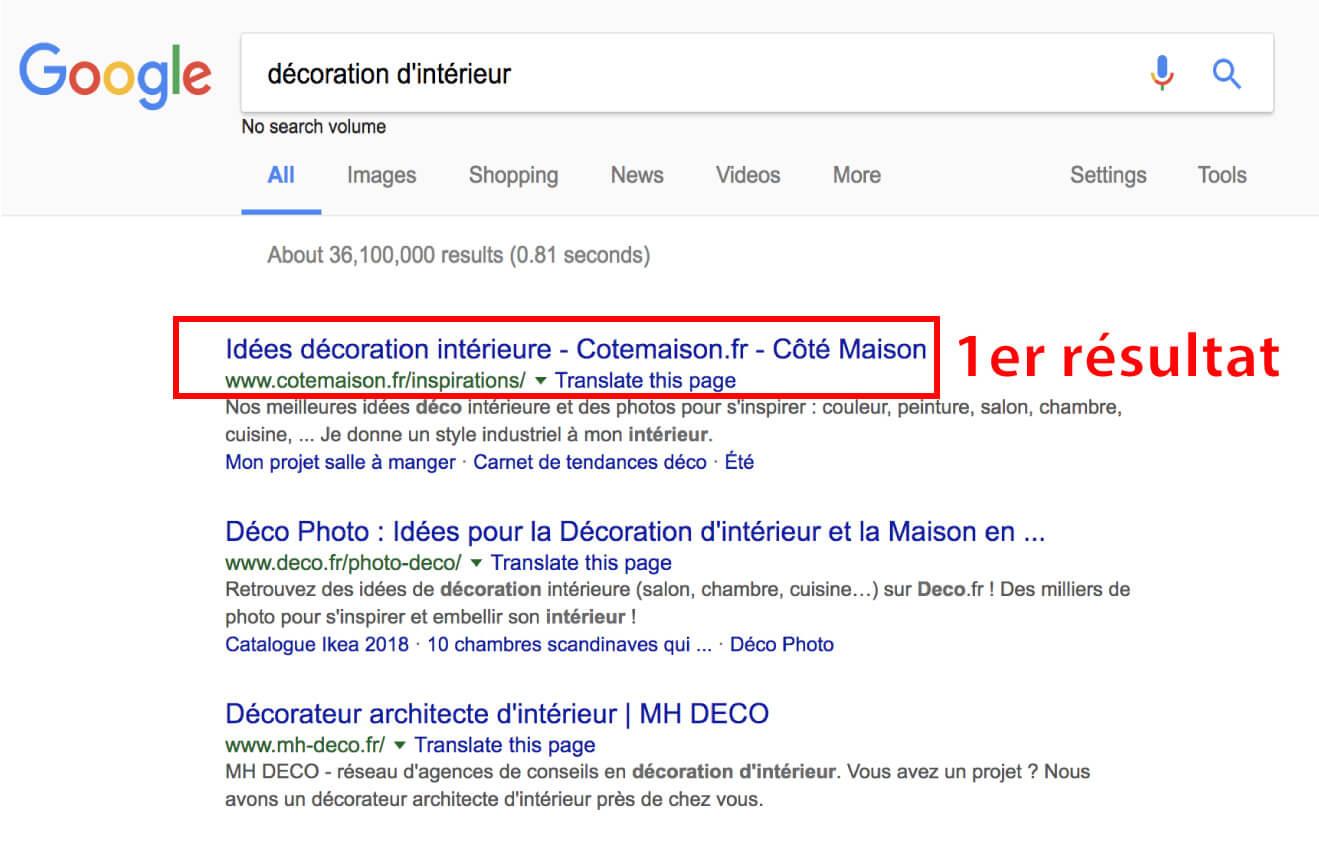 recherche google décoration