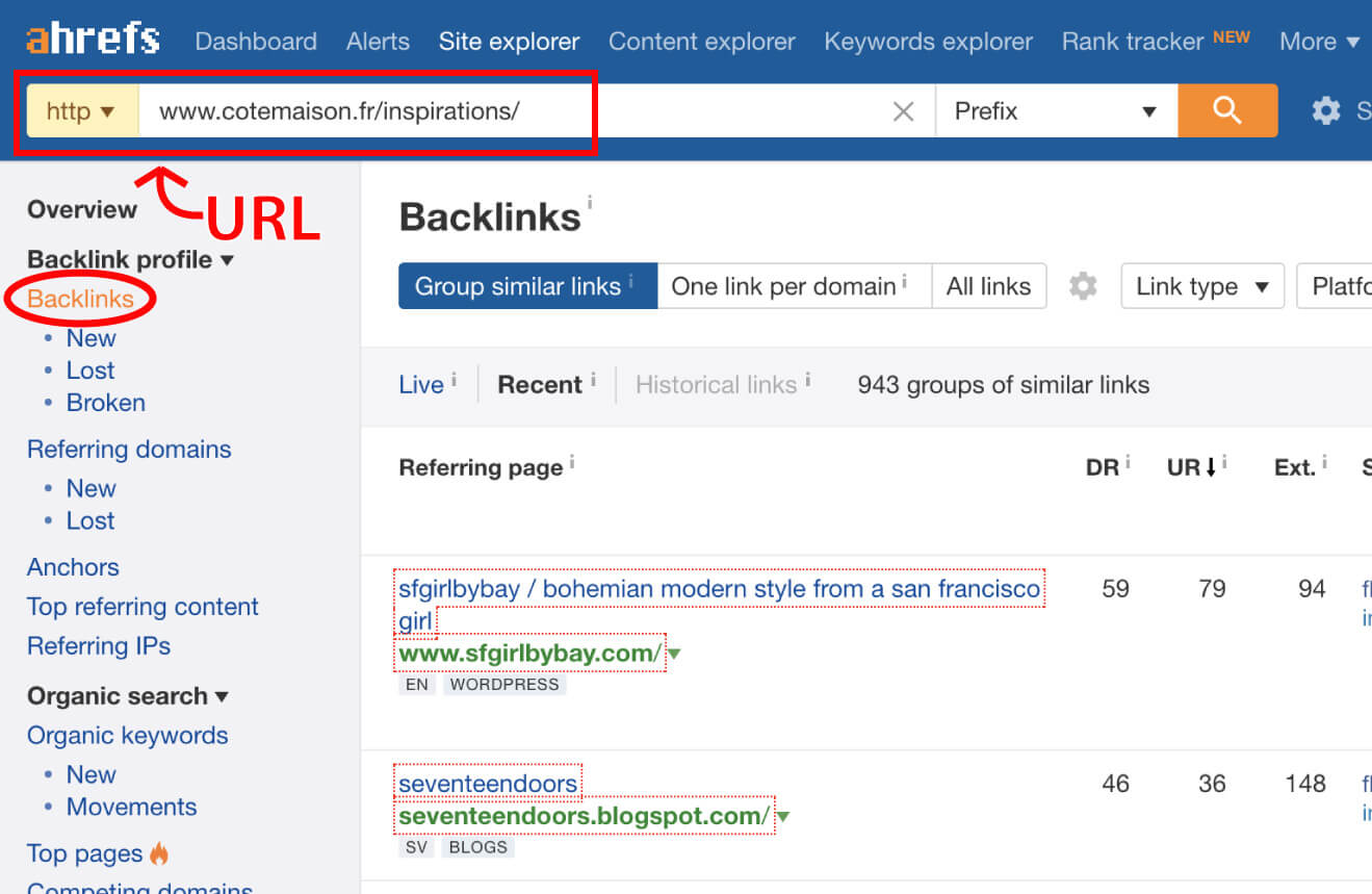 Ahref Backlinks