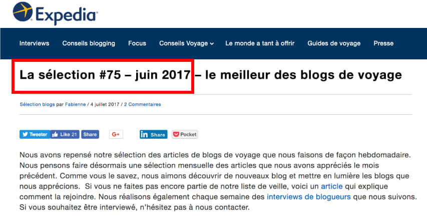 Expedia Juin 2017